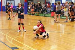 IMG_3958 (SJH Foto) Tags: girls club liberty team impact belle volleyball contact dig bump libero
