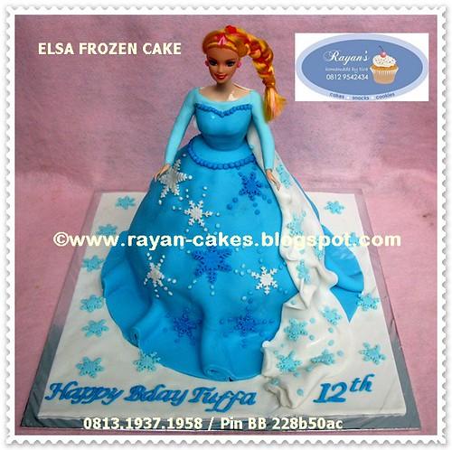 Elsa Frozen Disney Princess Birthday Cakes Fondant Kue
