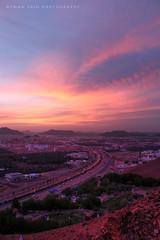 Al Madinah Al Monawarah (Ayman Zaid  ) Tags: sunset mountain medina highness       ohod