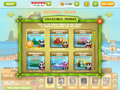 Mobile games Collections: screenshots, UI