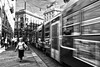 Movimento (MrStein77(Roby)) Tags: street old city bw woman white motion blur bus canon eos donna walk milano tram bn balck movimento bianco nero citta mosso vecchia 70d cammina mrstein77