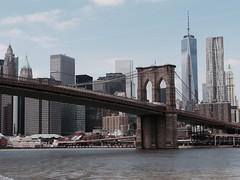 Brooklyn Bridge and Downtown Manhattan (faye.melhuish) Tags: usa newyork manhattan brooklynbridge