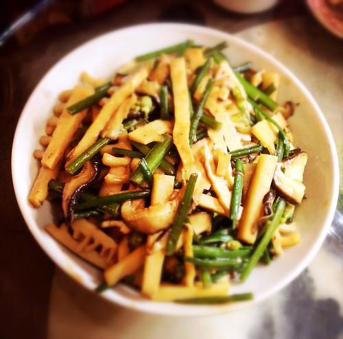 winter, bamboo, chinese, hangzhou, mushroom, recipe, stir fry, stirfry, vegetable, vegetarian, 冬筍炒冬菇