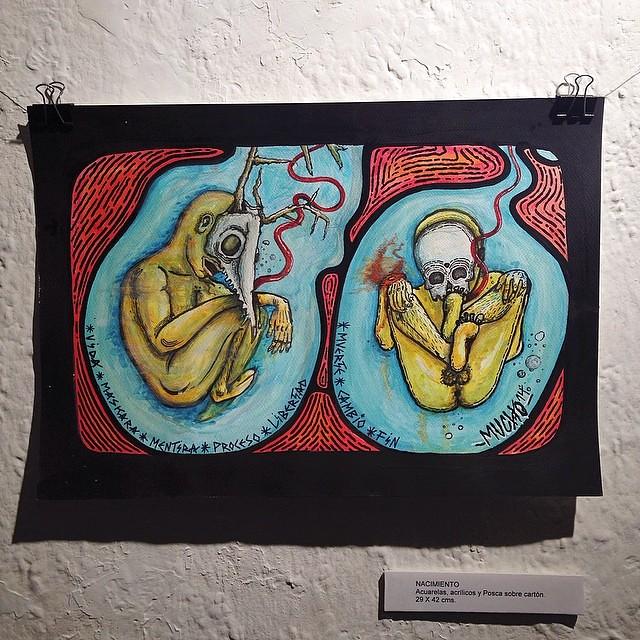 """""""Nacimiento"""" de Mucho @theartofmucho #arteenlima #artinlima"""