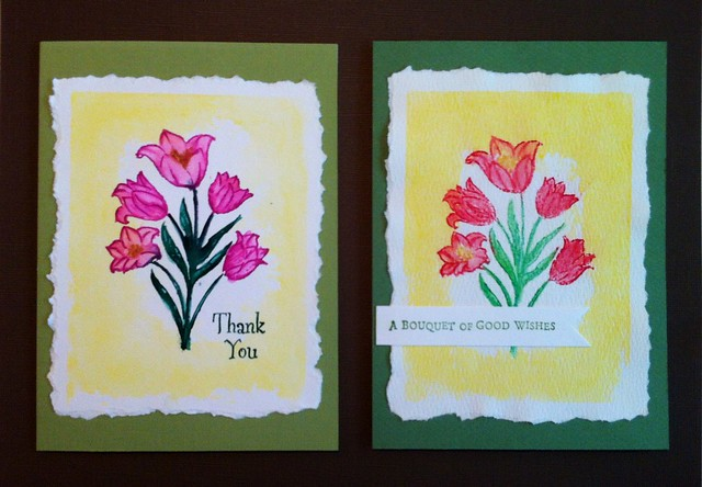 Day 3 - Acrylic Block Background with Watercolor Stamping