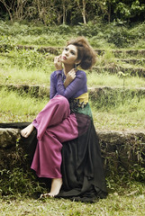 Green Pasture (JanJanCapili) Tags: city portrait postprocessed green art fashion forest pose glamour shot post image candid wildlife philippines location spotlight fantasy freeze portraiture simplicity concept wilderness processed couture onlocation quezon lamesaecopark kulay emilysoto fashionactions