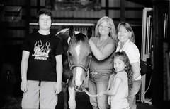 We love horses (Jordi V.) Tags: blackandwhite bw film nikonfm2 fujiacross100