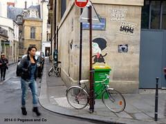 One day trip in Paris (Pegasus & Co) Tags: urban woman streetart art girl festival magazine painting graffiti book stencil paste femme arts lifestyle hype bubble block hiphop graff press rue livre flop  urbain throwup tarek pochoir  presse     paristonkar paristonkarmagazine pegasusandco