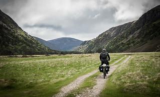 Riding along Glen Feshie