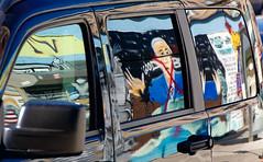 Mr. President (www.vanbastelaer.be) Tags: street usa streetart reflection art car america streetphotography voiture peinture reflet mur fentre vitre briller amrique rflexion brillance prsident carrosserie