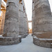 Smaller 12m high columns flanking the central nave - Hypostyle Hall - Karnak