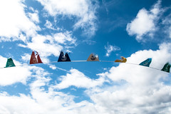 Clouds and Flags (BournemouthMike) Tags: blue sky clouds canon movement sunny flags boscombe boscombepier canon70d bournemouthmike