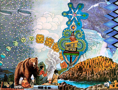 LARRY CARLSON, The Smoke Bear Cycles, collage on paper, 11x14in, 2014.