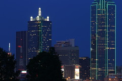 Dallas Moon Rise Wait (barrykooda) Tags: moon skyline river dallas cityscape texas moonrise bankofamericabuilding