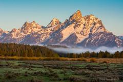 It's Going To Be A Beautiful Day (Amy Hudechek Photography) Tags: morning light mountains fog sunrise fence spring tetons tranquil grandtetonnationalpark gtnp amyhudechek