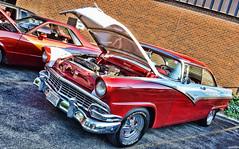 1956 Ford Victoria (Chad Horwedel) Tags: red white classic ford car illinois victoria vic morris twotone fordvictoria 1956fordvictoria