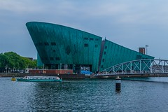 (McQuaide Photography) Tags: city holland building water netherlands amsterdam architecture canon boot eos boat europe nederland structure dslr modernistarchitecture modernarchitecture stad 100d mcquaidephotography