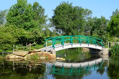 Monet Bridge (Bunny8907) Tags: park bridge ohio summer flower reflection green nature water garden pond dayton coxarboretum fiverivermetroparks