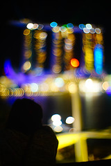 MBS in bokeh (Xingjian) Tags: singapore a7 mbs canon50mmf095 marinabaysands sonya7