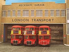 Peckham Routemasters (kingsway john) Tags: kingsway models card kit peckham bus garage london transport model efe routemaster diorama londontransportmodel 176 scale oo gauge miniature