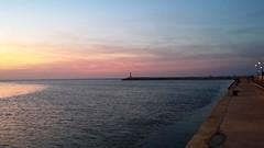 Rimini. Tramonto al porto (rivieradirimini) Tags: sunset sea summer port tramonto mare colours estate rimini porto colori seaport peer romagna emozioni