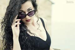 The eyes that you can't see, you forget them. (Cristian Lupi 72) Tags: portrait girl hair glasses model eyes nikon piano occhi primo scala manuela primopiano ragazza legno capelli occhiali modella grottammare vestito cristianlupi