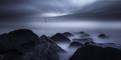 Sandgate (richard carter...) Tags: longexposure seascape kent solitude dusk bluehour leaning sandgate boardsofcanada 1635 eos5dmk2