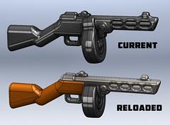 PPSh - Reloaded Render (BrickArms) Tags: lego ppsh brickarms minifigweapon legogun