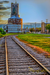 Old Town Saginaw (Photography by Butzin) Tags: clouds ss elevator tracks rusty photowalk safe saginaw saginawmichigan oldtownsaginaw saginawmioldtown
