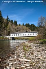 The Covered Bridge in Vida, Oregon (weeviltwin) Tags: bridge lake water oregon river dam or reservoir covered vida springfield mckenzieriver leaburg
