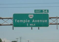 Exit 54 (peachy92) Tags: vacation virginia petersburg va roadsign roadsigns i95 2014 petersburgva petersburgvirginia roadgeek biggreensign va144 nikoncoolpixl22 vacation2014
