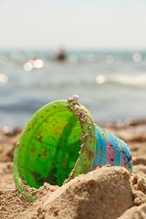 Little bucket (LaR0b) Tags: ocean sea summer beach bucket spain sand playa mallorca cala majorca balearic millor