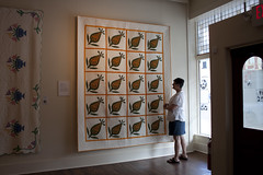 Antique Pineapple, modern quilting -Texas Quilt Museum Nov 2013 (mqumag) Tags: tqm