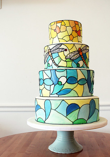 Tiffany Lamp Stained Glass Wedding cake