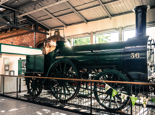 Engine No. 36 On View In Kent Train Station