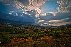 Landscape Crete (Bommer60) Tags: skyline clouds landscape kreta greece crete sunrays hdr fatima chania ollive tamron1024mm nikond7000 9thjune2014 kastellosvillage