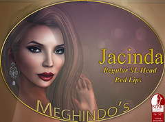 {Meghindo's} ~ Jacinda ~ Regular SL head ~ Red Lips ~ (Meghindo) Tags: new skin s pack visage physique 2014 slink applier meghindo wowmeh