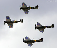 The Four Mk1 Spitfires (twinklespinalot) Tags: aviation flight sigma apo duxford 70300mm mk dg spitfires flyinglegends i canoneos700d n3200 supermarinespitfiremk1 duxairshows