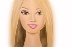 Its Barbie Girl (missmariamunar) Tags: new portrait flower art painting was artist all child drawing paintings creative dream bethany it age oil how colourful process mota selfie