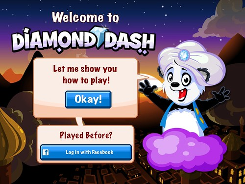 Diamond Dash Social: screenshots, UI