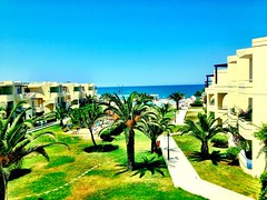 Our hotel near The beach in Platanias!