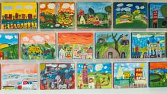 The children's works (renagrisa) Tags: street usa newyork art brooklyn america bambini manhattan guggenheim museo avenue sreet città scuola grattacieli maggio2014 ritornoanyc
