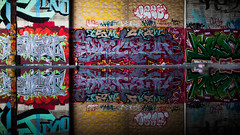 Two Sides of the Same Coin (Thomas Hawk) Tags: california usa graffiti unitedstates unitedstatesofamerica eastbay alameda fav10