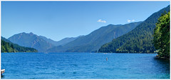 Lake Crescent (ScottElliottSmithson) Tags: blue lakecrescent mountain lake mountains nature canon spectacular landscape eos washington scenery olympicpeninsula 7d pacificnorthwest washingtonstate nationalparks olympicnationalpark mountainlake waterscape olympicmountains usnationalparks eos7d