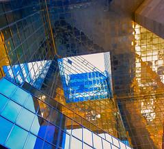 Sky & sun (Hermione85) Tags: city sky urban color london glass colore bank londra vetro