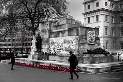 Hyde Park corner - London (Bouhsina Photography) Tags: londres angleterre bouhsina bouhsinaphotography canon 5diii ef2470 selective rouge noir blanc noiretblanc bw hyde park 2017 street monochrome