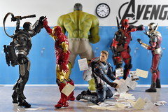 Civil War Part 3: The Hallway (Pete Tapang) Tags: captain america spiderman spider man antman ant deadpool comics marvel civil war wade wilson steve rogers tony stark toy action figure figuarts figma revoltech toys figurine poseable japanese funny humor comedy cinematic
