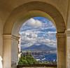 Vesuvio (Fil.ippo) Tags: naples napoli vesuvio volcano cityscape sky clouds water sea filippo filippobianchi d7000 panorama hdr