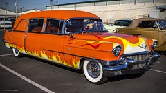 The Hearse (Kool Cats Photography over 8 Million Views) Tags: hearse orange custom paint graphics classic cadillac outdoor