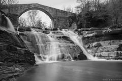 (nadiaorioliphoto) Tags: biancoenero wb bw monocromo cascate ponte river acqua water falls bridge longeexposure